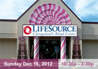 LifeSource Blood Drive Dec 16, 2012 from 10:30am - 3:30am